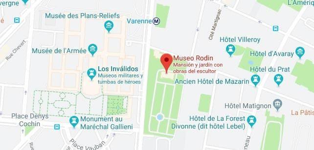 Francia-MuseoRodin-Mapa