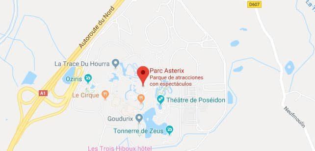 Francia-ParcAsterix-Mapa