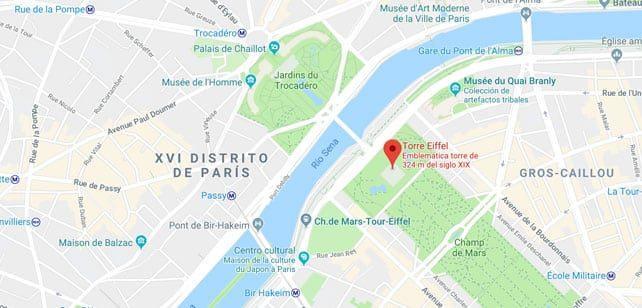 Francia-Paris-Torre-Eiffel-mapa