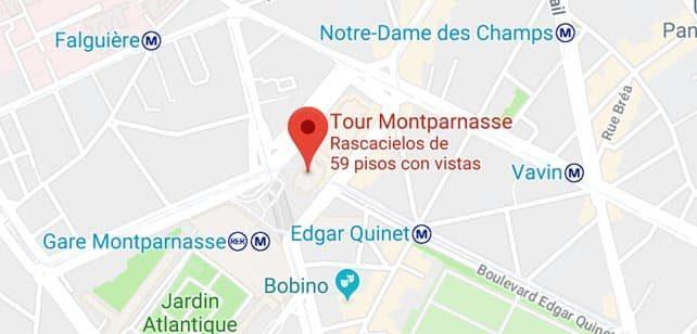 Francia-Paris-Torre-montparnasse-mapa