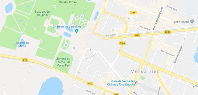 Francia-Paris-Versalles-mapa