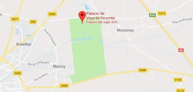Francia-VauxLeVicomte-Mapa