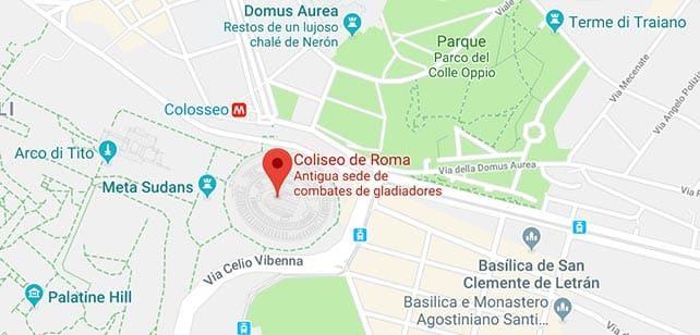 Italia-Roma-Coliseo-mapa