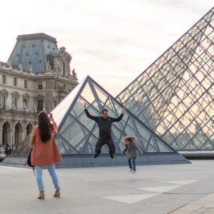 Familia en Louvre
